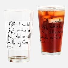 Funny Ferrets Drinking Glass