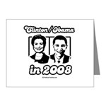 Clinton / Obama 2008 Note Cards (Pk of 10)