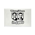Clinton / Obama 2008 Rectangle Magnet (10 pack)