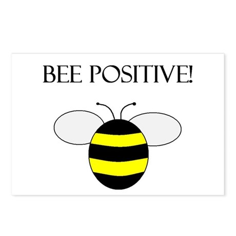 BEE POSITIVE Postcards (Package of 8)