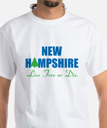 NEW HAMPSHIRE - LIVE FREE OR DIE White T-Shirt