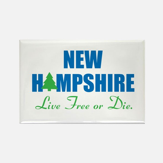 NEW HAMPSHIRE - LIVE FREE OR DIE Rectangle Magnet