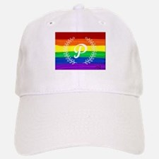 P. Gay rainbow art Baseball Baseball Cap