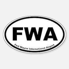 Fort Wayne International Airport Oval Decal