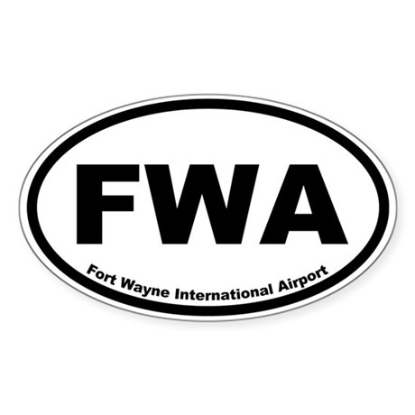 Fort Wayne International Airport Oval Sticker
