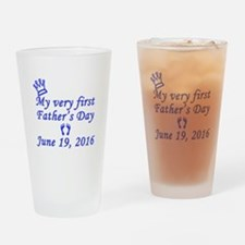 First Father's Day 2016 Drinking Glass