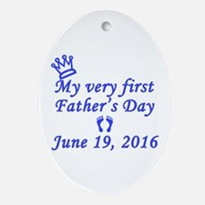 First Father's Day 2016 Oval Ornament