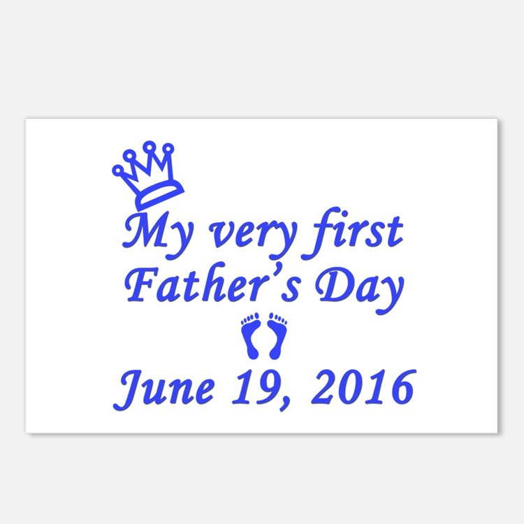 First Father's Day 2016 Postcards (Package of 8)