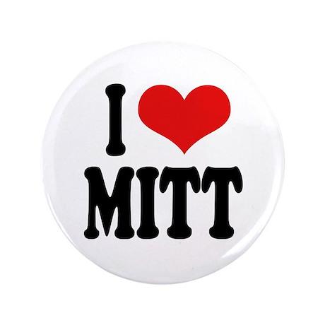 """I Love Mitt 3.5"""" Button (100 pack)"""