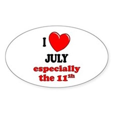 July 11th Oval Bumper Stickers