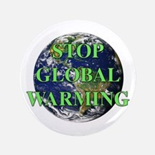 """Stop Global Warming 3.5"""" Button"""