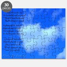 Heart Cloud With Poem Puzzle Puzzle