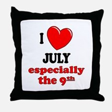 July 9th Throw Pillow