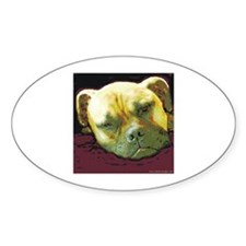 Bullmastiff at Rest Oval Decal