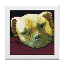 Bullmastiff at Rest Tile Coaster