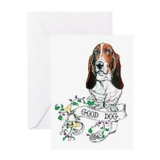 Basset Hound Good Dog Greeting Card