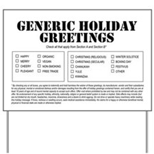 Generic Holiday Greetings Yard Sign