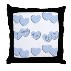 Love The OC Hearts Throw Pillow