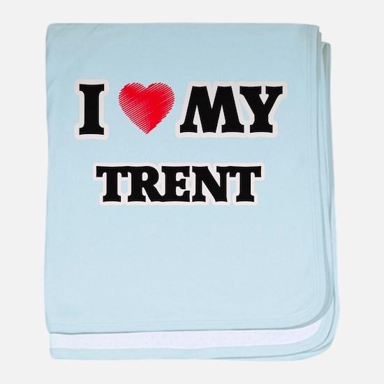 I love my Trent baby blanket