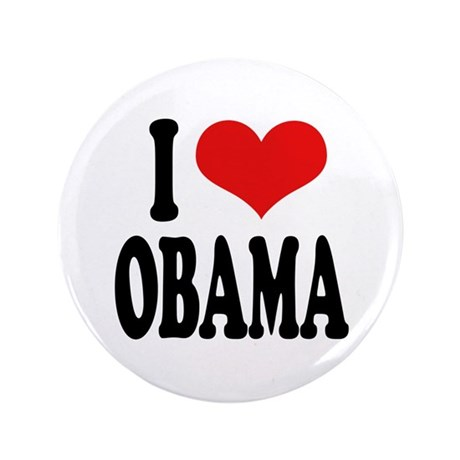 "I Love Obama 3.5"" Button (100 pack)"
