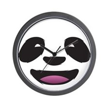 Panda Face Wall Clock