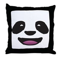 Panda Face Throw Pillow