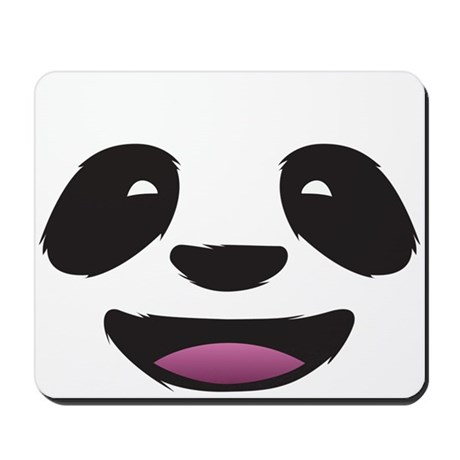 Panda Face Mousepad