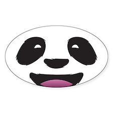 Panda Face Oval Decal