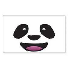 Panda Face Rectangle Decal