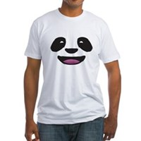 Panda Face Fitted T-Shirt