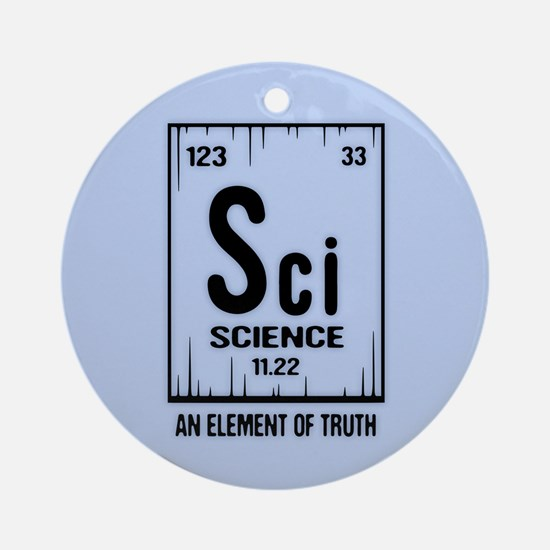 Element of Truth Round Ornament