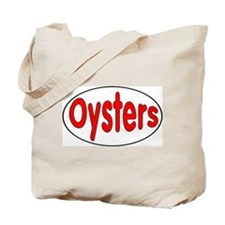 Oysters Oval Sticker Tote Bag