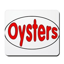 Oysters Oval Sticker Mousepad