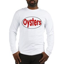 Oysters Oval Sticker Long Sleeve T-Shirt