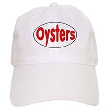 Oysters Oval Sticker Baseball Cap