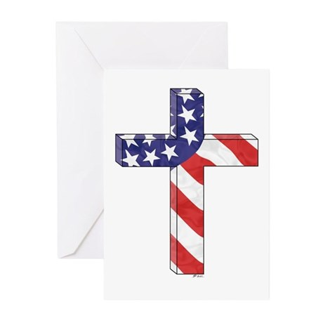 Freedom Cross Cards w/ Scipture (Pk of 10)