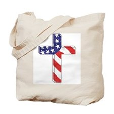 Freedom Cross w/ Scripture Tote Bag