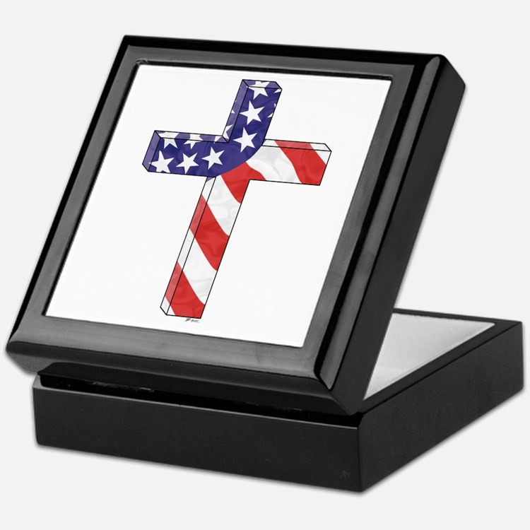 Freedom Cross Keepsake Box
