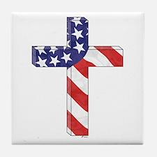 Freedom Cross Tile Coaster