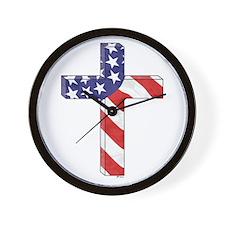 Freedom Cross Wall Clock