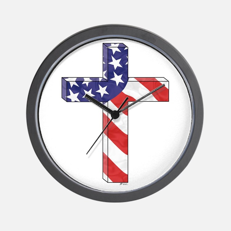 Freedom Cross Wall Clock