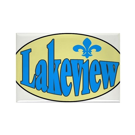 Lakeview Rectangle Magnet