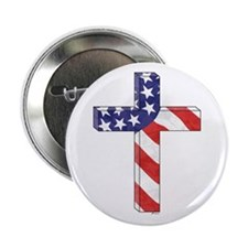 """Freedom Cross 2.25"""" Button (10 pack)"""