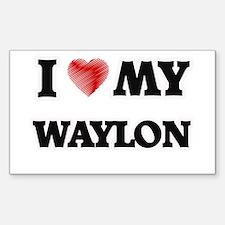 I love my Waylon Decal
