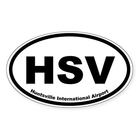 Huntsville International Airport Oval Sticker