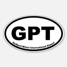 Gulfport-Biloxi International Oval Decal