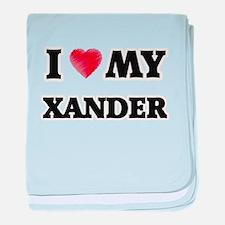 I love my Xander baby blanket