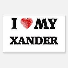 I love my Xander Decal