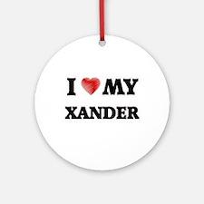 I love my Xander Round Ornament