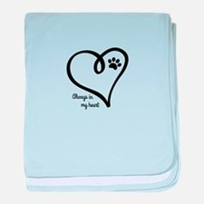 Always in my Heart baby blanket